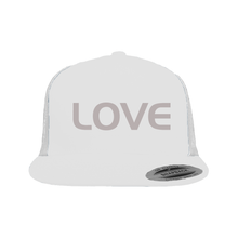 Load image into Gallery viewer, Snapback Trucker Hat White