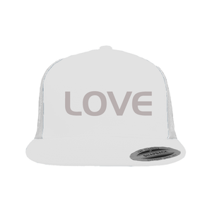 Snapback Trucker Hat White