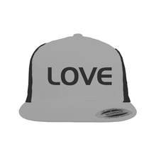 Load image into Gallery viewer, Snapback Trucker Hat SilverBlack