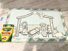 Load image into Gallery viewer, Nativity Coloring Placemat