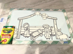 Nativity Coloring Placemat