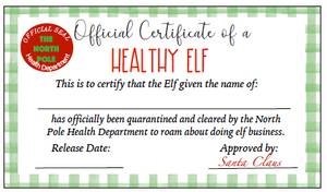 Elf Quarantine Printables