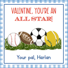 Load image into Gallery viewer, Sports MVP Valentine