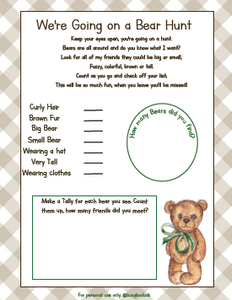 Bear Hunt Activity Page