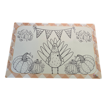 Load image into Gallery viewer, Gobbler Games + Thanksgiving Color Me Placemat