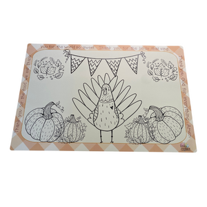 Gobbler Games + Thanksgiving Color Me Placemat