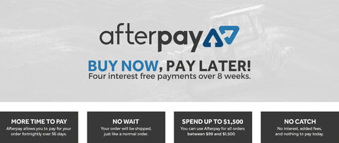 Text - Afterpay Payment option