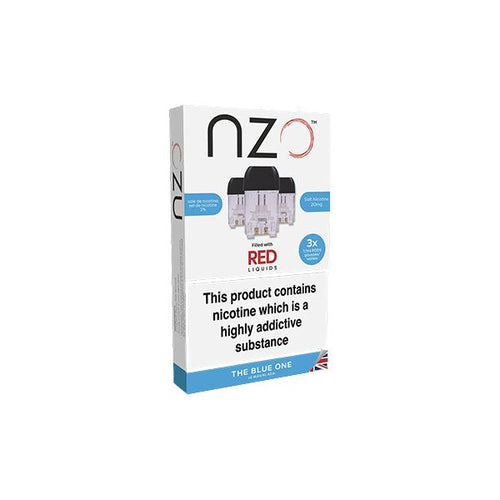 NZO Salt Cartridges with Red Liquids Flavoured Nic Salt Pods (50VG/50PG)