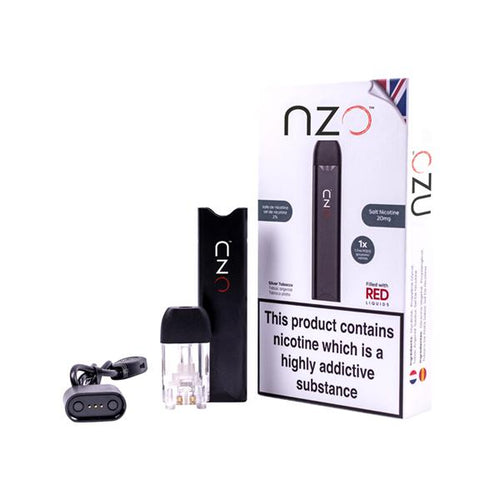 NZO Kit with Red Liquids Flavoured Nic Salt Pod NZO - Ohm Bros Limited