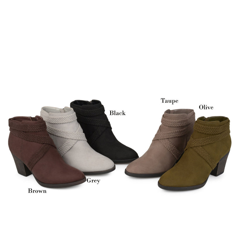2317b778a67 Women Casual Daily Chunky Heel Daily Zipper Round Toe Boots