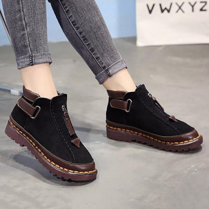 3faeacaec7c Womens New Style Chelsea Platform Flat Bottom Martin Ankle Boots ...
