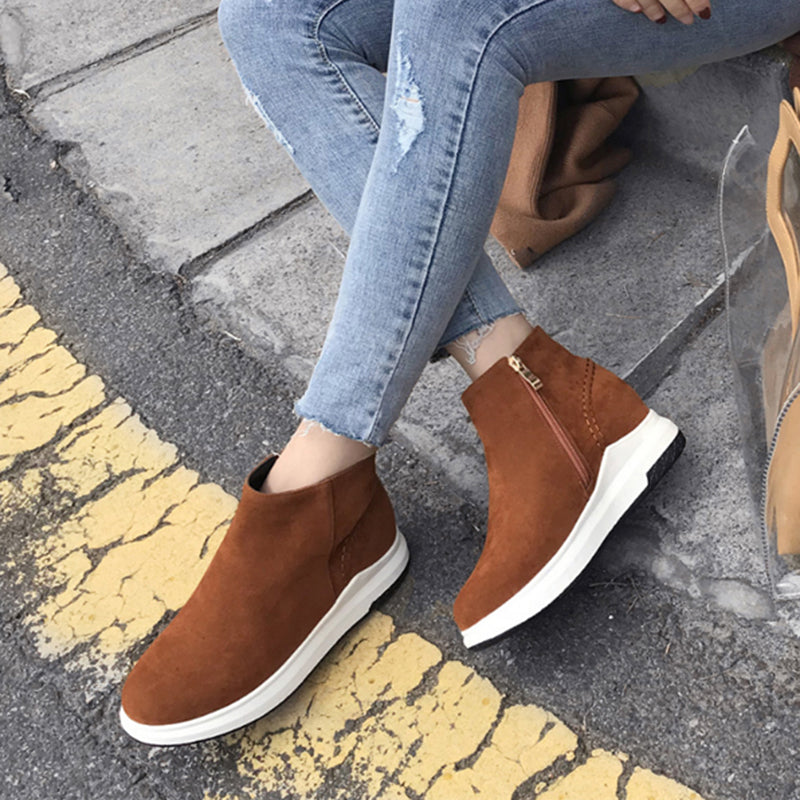 3bc85f06352 Women Daily Casual Wedge Heel Slip-on Loafers Plus Size Shoes ...