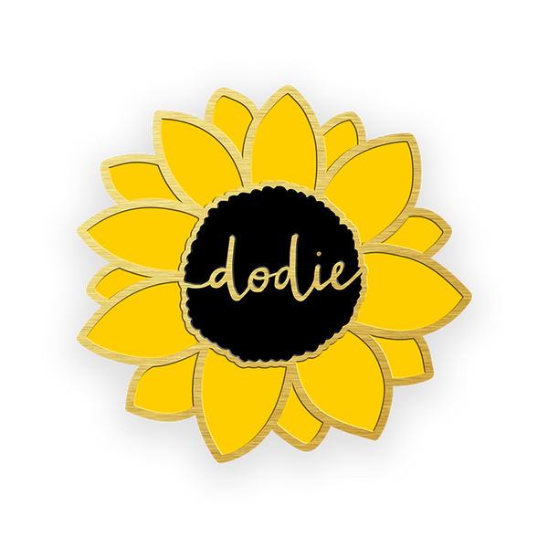 SUNFLOWER ENAMEL PIN BADGE