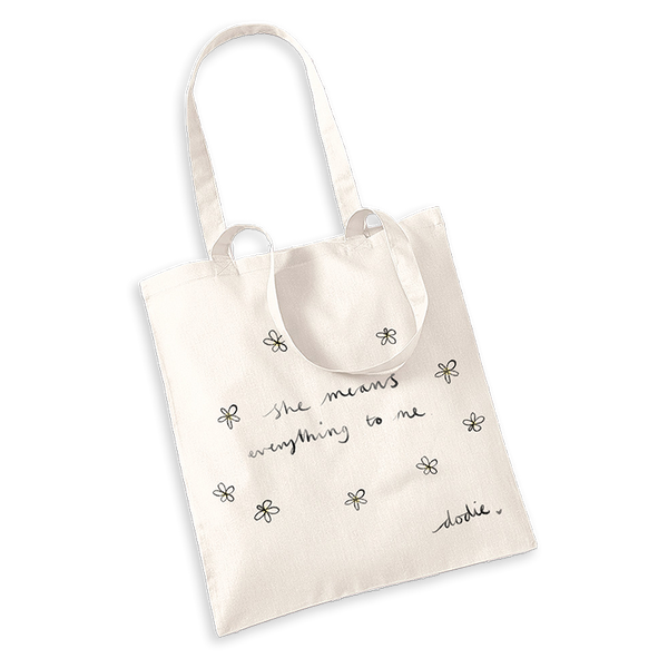 SHE WHITE TOTE BAG