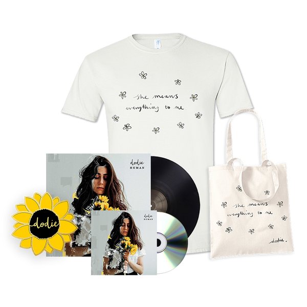 ULTIMATE HUMAN BUNDLE WITH  VINYL AND CD (SHE T-SHIRT)
