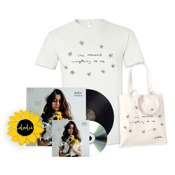 ULTIMATE HUMAN BUNDLE WITH SIGNED VINYL AND CD (SHE T-SHIRT)