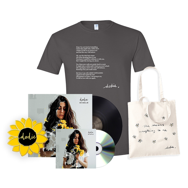 ULTIMATE HUMAN BUNDLE WITH SIGNED VINYL AND CD  (ARMS UNFOLDING T-SHIRT)