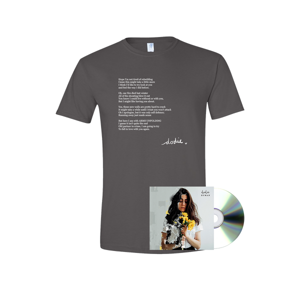 HUMAN CD + ARMS UNFOLDING T-SHIRT BUNDLE