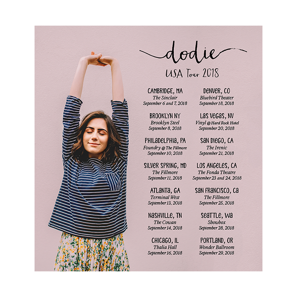 DODIE USA TOUR 2018 POSTER