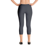 Black Lava Capri 3/4 Leggings