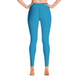 Ocean Blue Yoga Leggings
