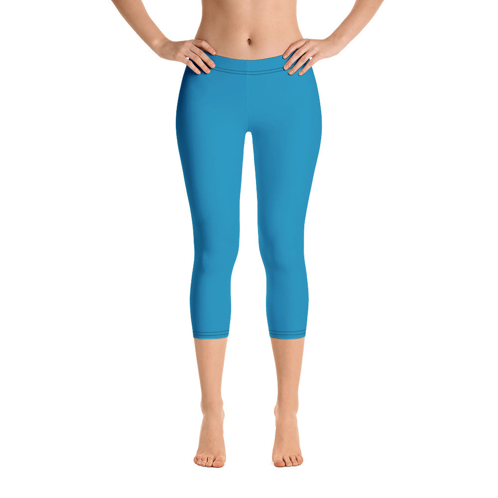 Ocean Blue Capri Leggings