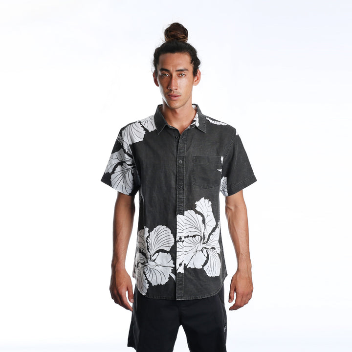 Big Love Hawaiian Shirt - Washed Black