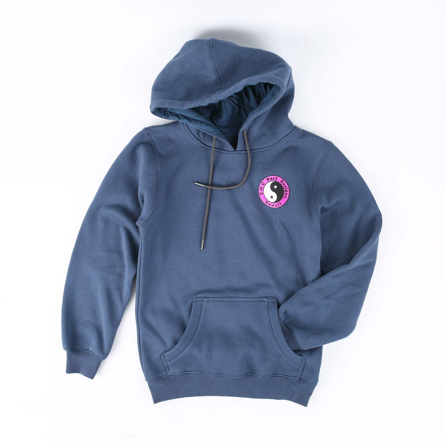 Kids OG Fleece Pop Hood - Dusty Blue (8-16)
