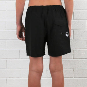 Kids Maui 4 Way Stretch Short - Black