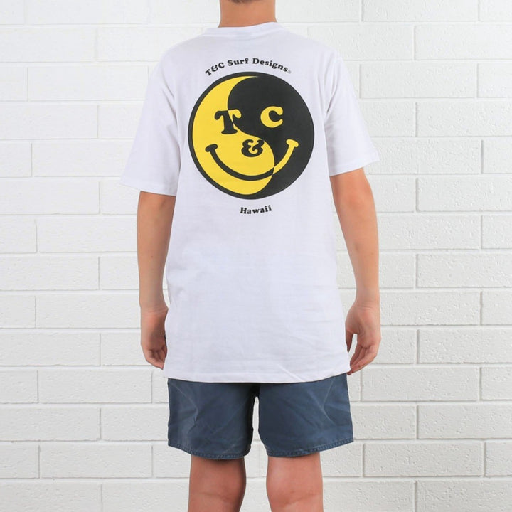 Kids Smiley Tee - White