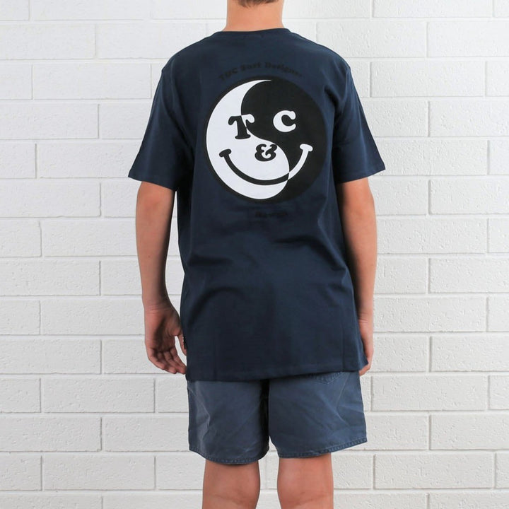Kids Smiley Tee - Navy