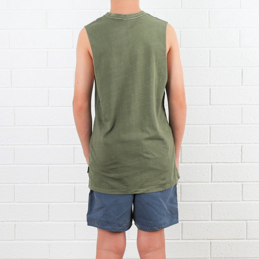 Kids OG CF Muscle Tee - Army