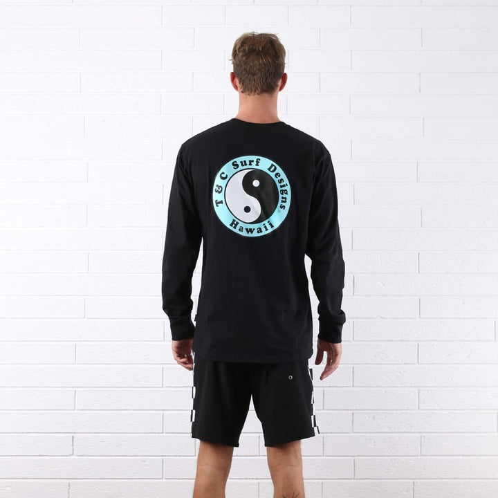 OG Logo Long Sleeve Tee - Black / Ice Blue