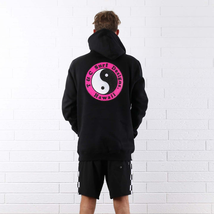 OG Fleece Pop Hood - Black / Magenta
