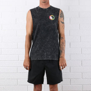 OG Logo Muscle Tee - Acid Black