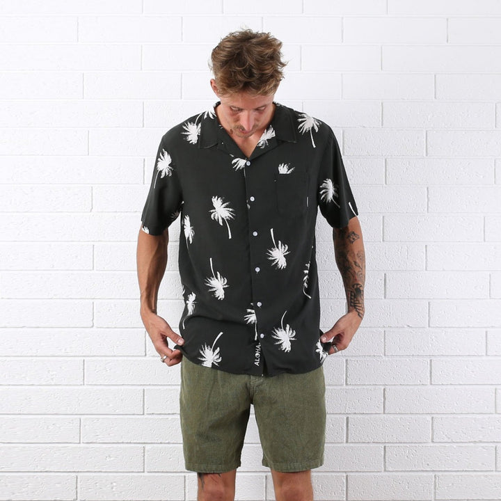 Face Palm Hawaiian Shirt - Black