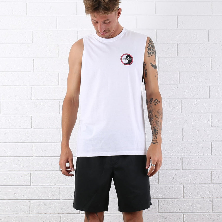 Pearl City Muscle Tee - White