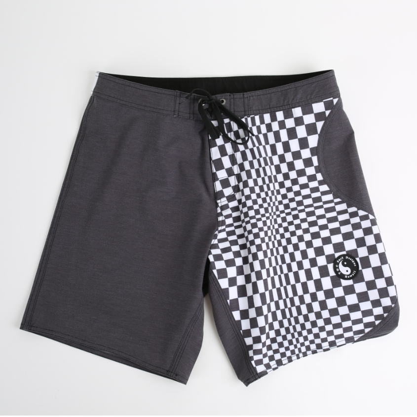 Yin Yang Boardshort - Twisted Black
