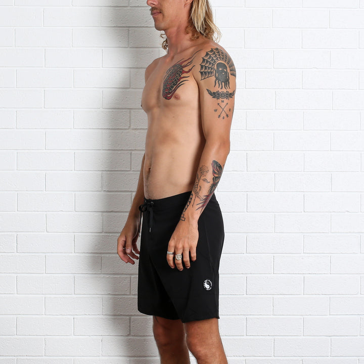 Yin Yang Boardshort - Black Stretch