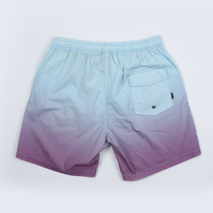 Faded Elastic Waist Beach Short - Sunset