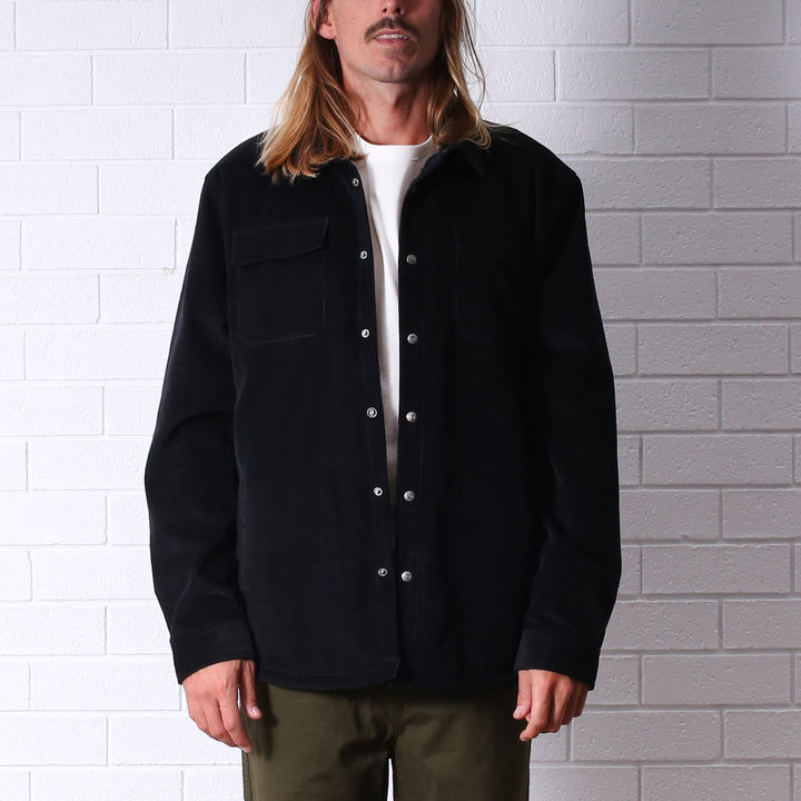 The Ranch Lined Cord Jacket - Black