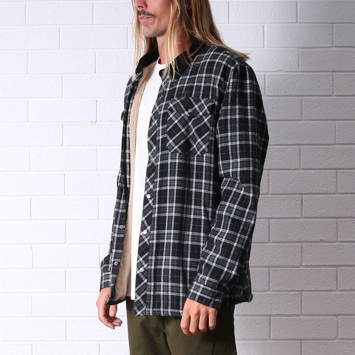 Canyon Sherpa Lined Flannel - Black