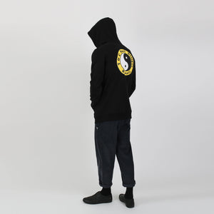 OG Fleece Pop Hood - Black Yellow
