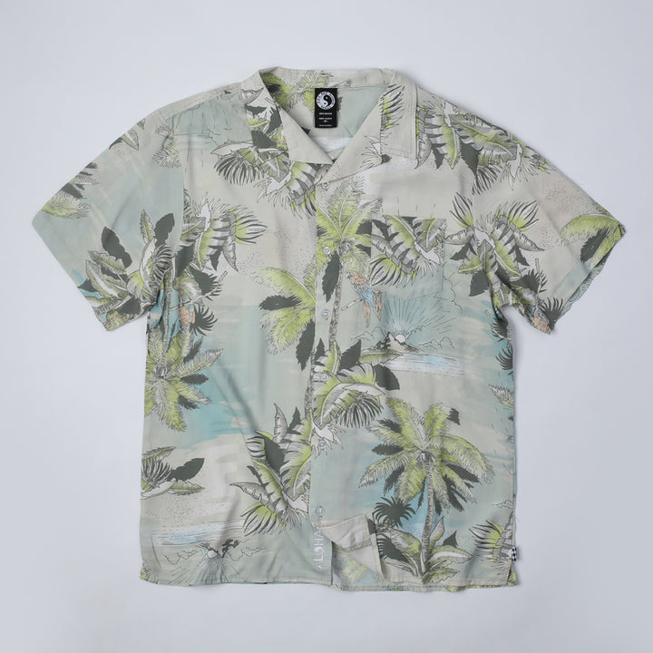 Lost Islands Hawaiian Shirt - Natural