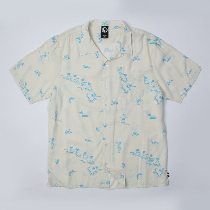 Diamond Head Hawaiian Shirt - Bone