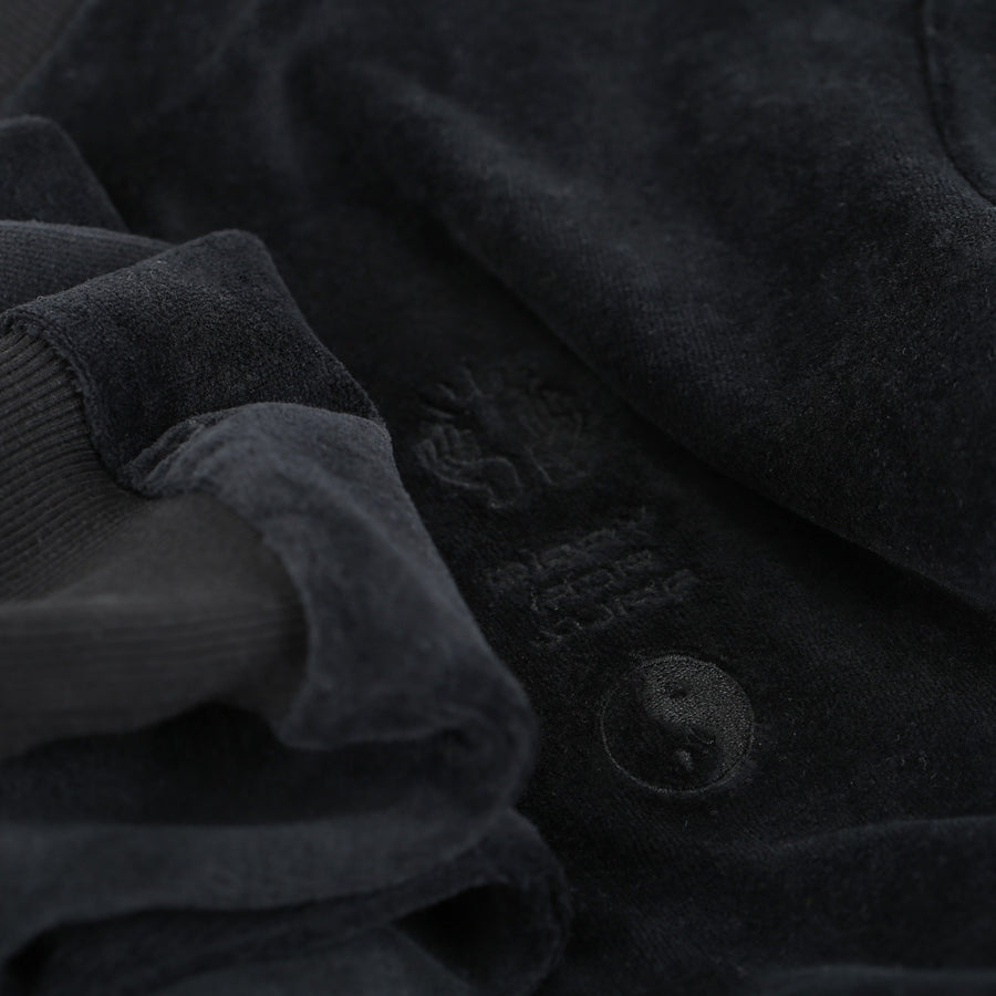 Pray for Surf Velour Crew Jumper - Black
