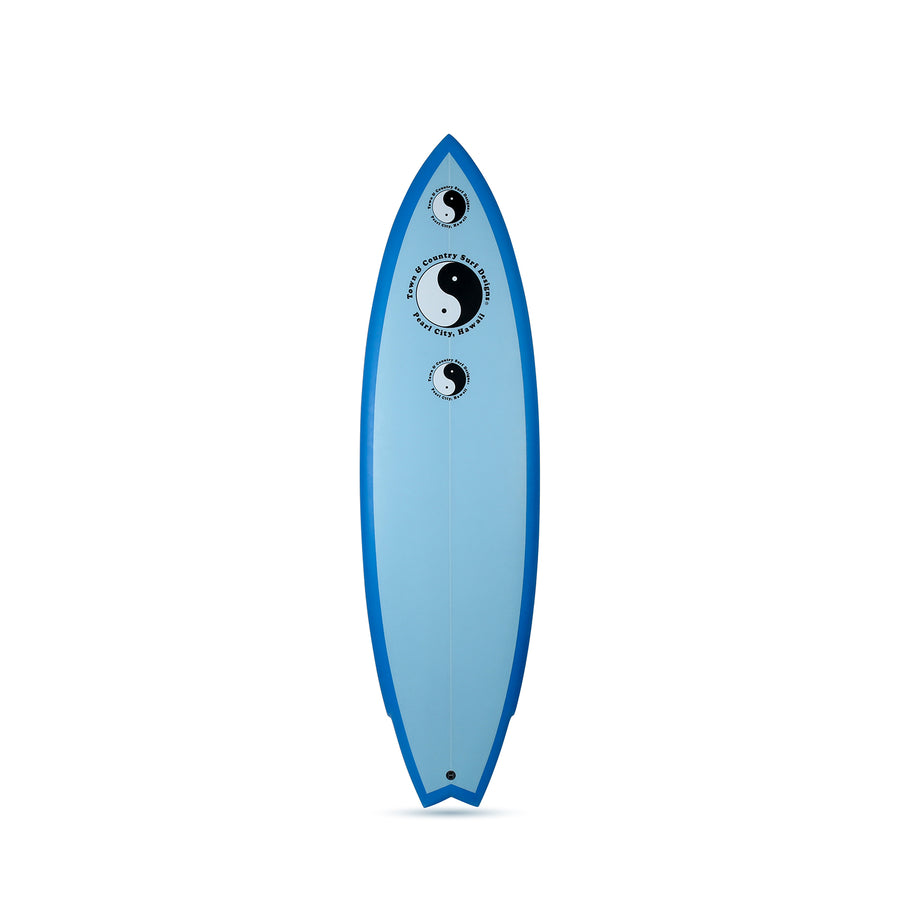 Twin Byrner Blue - Twin Fin Surfboard