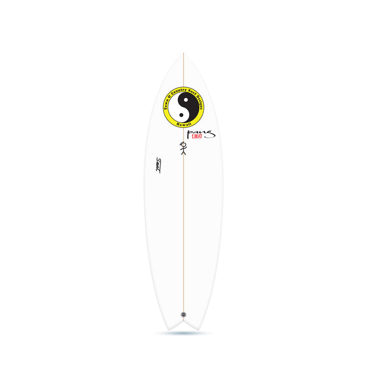 The Saint Clear - Twin Fin Surfboard