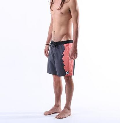 Jagged Boardshort - Black Coral