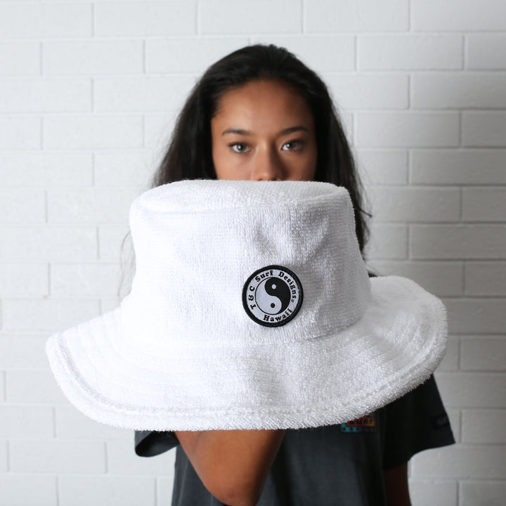 Terry Beach Hat - White (S/M)